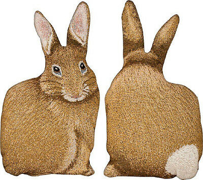Hare Raising Cotton Tail ~ Easter Bunny Rabbit Shaped Tapestry Pillow