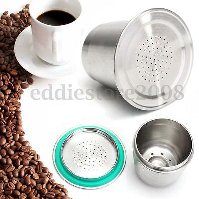 Stainless Steel Coffee Metal Capsule Reusable Refillable For Nespresso Machine