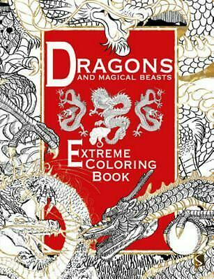 Dragons and Magical Beasts: Extreme Coloring Book by Salariya Paperback Book (En