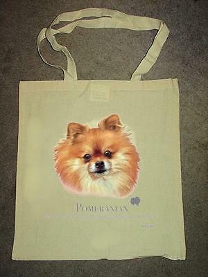 Pomeranian Design No 17411 Printed Shopping Natural Tote Bag