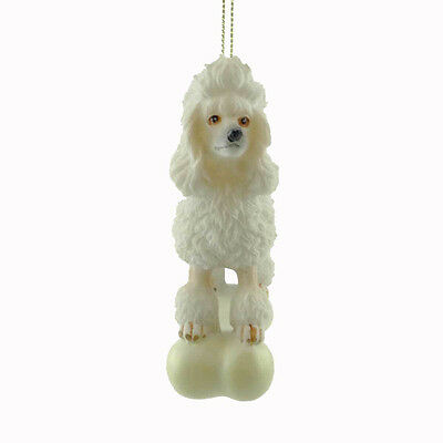 Personalized Ornaments POODLE ON BONE Resin Puppy Dog Christmas C3284
