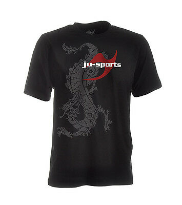 Ju-Sports Dark-Line T-Shirt Ryuu schwarz - Martial Arts-Shirt - Kampfkunst Shirt