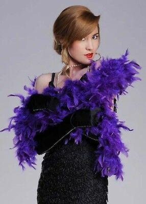Flapper Girl Violet 20s Purple Feather Boa