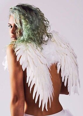 Stunning Deluxe White Feather Angel Wings