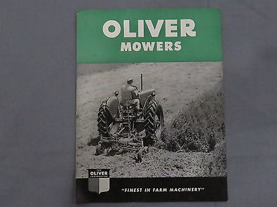 original 1949 Oliver Sickle Mowers sales Brochure Catalog Neat!