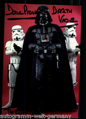 Dave Prowse TOP AK Orig. Sign. u.a. Star Wars +81348