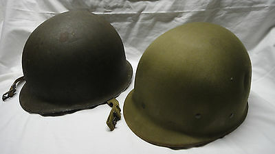 WWII US Army M1 Front Seam Fixed Bail Steel Helmet & Hawley Liner