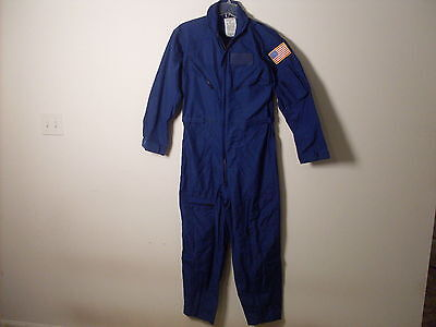 Military COAST GUARD COVERALLS NAVY NOMEX FLIGHT SUIT CWU/73P ROYAL BLUE NEW