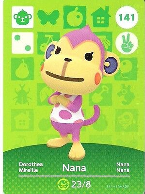 ANIMAL CROSSING amiibo KARTE: 141 - NANA (DOROTHEA) (Standartkarte/mint)