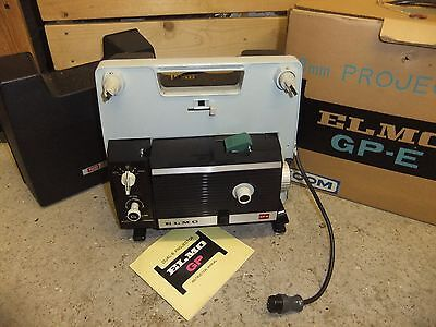 Cine film projector ELMO GP-E super 8 with lead & INSTRUCTIONS