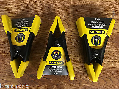 """Lot Of 3 Stanley Spring Clamps 83-079 1"""" Opening 4"""" Long Brand New Free Shipping"""