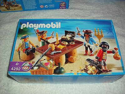 Playmobil 4292 Pirate Gang Sitting At Table  Brand New