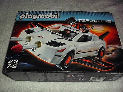 Playmobil  4876 Top Agents Secret Super Racer, Fires Missiles  New In Sealed Box
