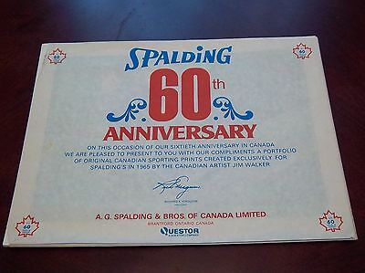 Spalding 60th Anniversary 4 Original Candian Sporting Posters created in1965