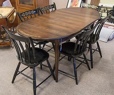 Authentic Hitchcock Table Chairs Dining Room Set