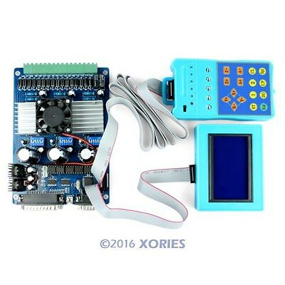 New 3 Axis CNC Stepper Motor Driver TB6560 Set + LCD Display + Handle Controller