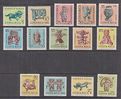 COSTA RICA, 1963 Archaeological Discoveries set of 14, lhm., 90c. mint no gum.