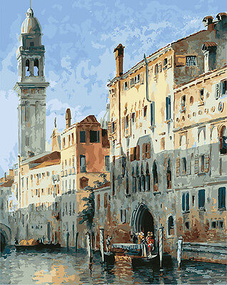 Painting by Number kit Venice Waterside City Sea Island Italy Cityscape DY7142