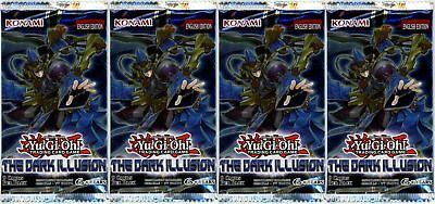 YuGiOh! The Dark Illusion UNL Edition New And Sealed Booster Packs x4