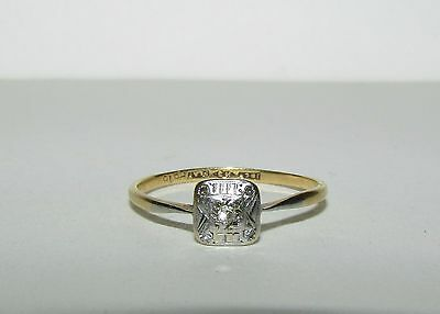 Fine, Antique, Georgian, 18Ct Gold And Platinum Ring With Natural Diamonds