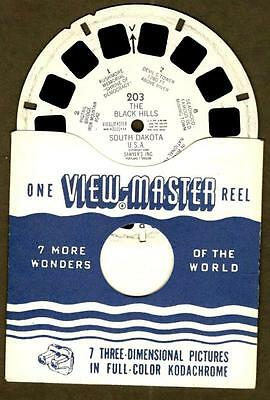 THE BLACK HILLS, SOUTH DAKOTA ~ ViewMaster Reel #203 by Sawyer's Inc. 1950
