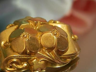 Pre 1900's Victorian Gold Plated Flower Brooch-A Beautiful Antique 1561j