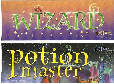 2 HIS & HERS RV Bumper Sticker Set WIZARD & POTION MASTER 3x9 Motor Home Camper
