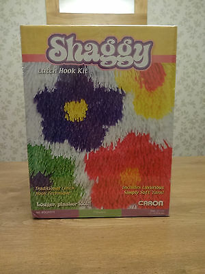 "Shaggy Latch hook kit. BNIB. CARON. Flowers. 12"" x 12""."