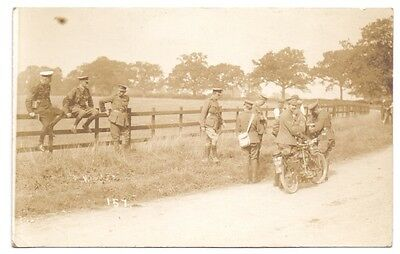 Unidentified Group of Soldiers with a Motor Cycle Reg No L B 1201           (U)