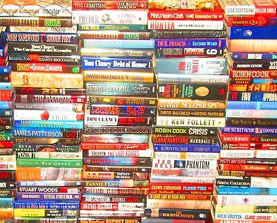 """HARDCOVERS Fiction """"Popular Authors"""" w/ Dust BULK BOOK Lot of 125 -PICK UP ONLY"""
