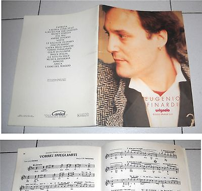 Spartiti EUGENIO FINARDI Omonimo Same OTTIMO 1993 Songbook Sheet Music Best of
