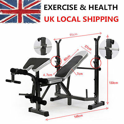 Adjustable Weight Bench Multi With Leg Curl Extension & Preacher Exercise BY