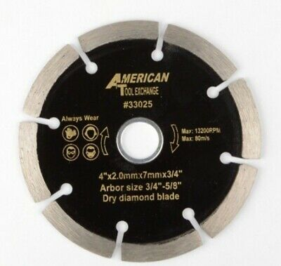 "4"" DRY Diamond Blade Perfect for Marble Cutter Tile Cutting Tools 3/4+5/8"" Arbor"