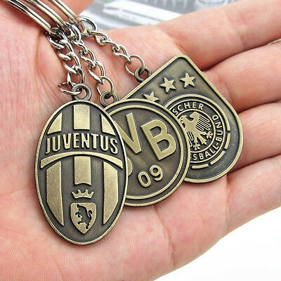 Soccer Souvenir Copper steel Keychain KeyRing Arsenal Milan Liverpool Manchester