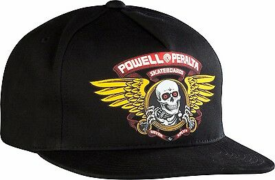 Powell Peralta WINGED RIPPER Snapback Skateboard Hat BLACK