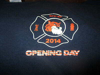 DETROIT FIRE DEPARTMENT 2014 TIGERS Opening Day Limited Ed T Shirt XL