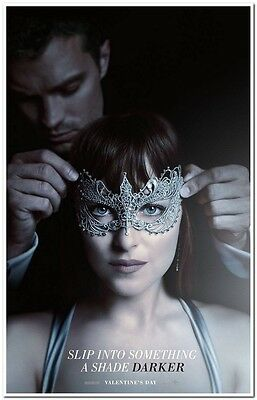 "FIFTY SHADES DARKER -2017- original 27X40 ADVANCE ""B"" Movie Poster- JAMIE DORNAN"