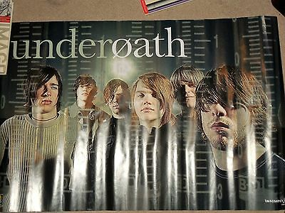"""Underoath Poster Tour Band Concert Poster Used 34"""" X 22"""""""