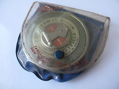 Vintage Sheffield Chesterman Tape Measure Made In England - Free Postage