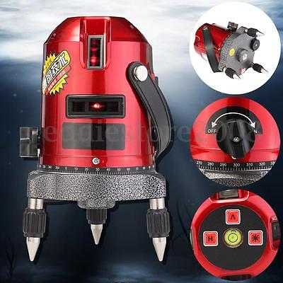 Red Automatic Self Leveling Tool 5 Lines 6 Points 4V1H Laser Level Measure New