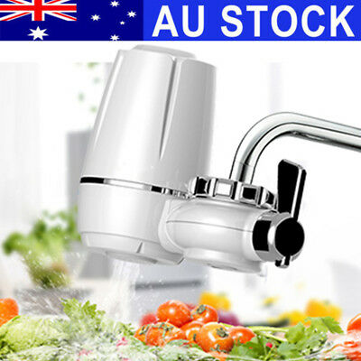 AU Tap Faucets Water Filter Ceramic Mount Water Purifier Purify System Cleanable