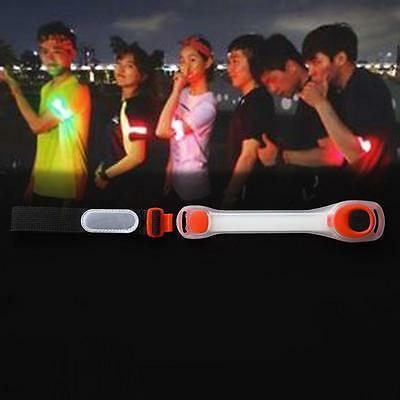 Reflective Safety Belt Arm Strap Night Cycling Running LED Armband Light Red SP