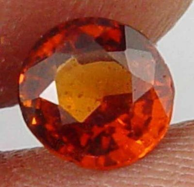 HESSONITE GARNET Natural 1.25 CT Loose Astrological Gemstone 10101123