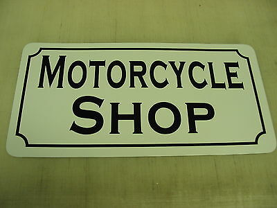 MOTORCYCLE SHOP Metal SIGN for Garage Cycle Riding Club Shop Race Track Man Cave