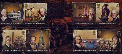 GB 2009 PIONEERS of the INDUSTRIAL REVOLUTION SET MNH