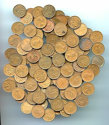 Canada ~ Small Cent Lot ~ Mixed Date ~ 100 Pcs.