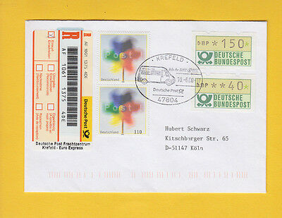 "Label-Seltenheit ""Deutsche Post Frachtzentrum"" Euro Express ATM/SM ""Join the..."""