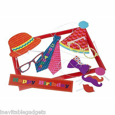Teenage Kids Party Photo Booth Large Frame & 13 Props Party Disguises