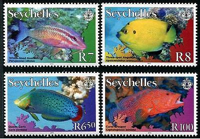 SEYCHELLES Sc.# 893-96 Tropical Fish Stamps