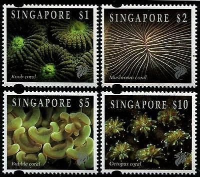 SINGAPORE Sc.# 682-84A Coral High Values Stamps